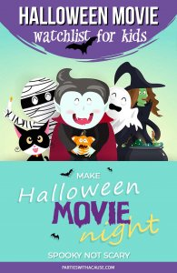 Halloween movie night for families