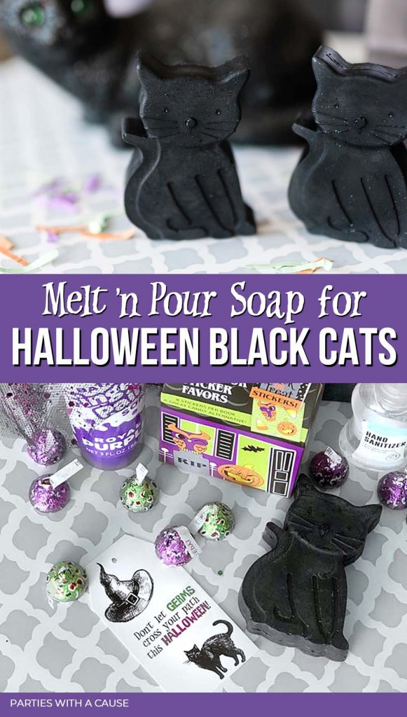 Melt and pour soap recipe for Halloween by Salt Lake Party Stylist