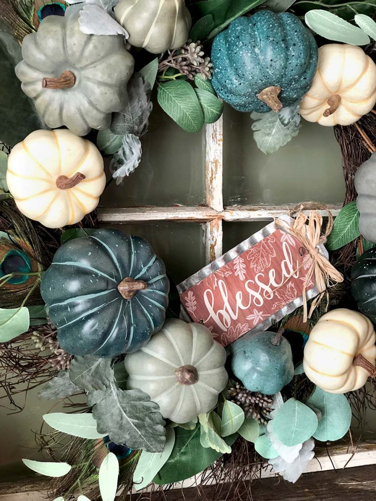 Fall wreath for harvest party decor