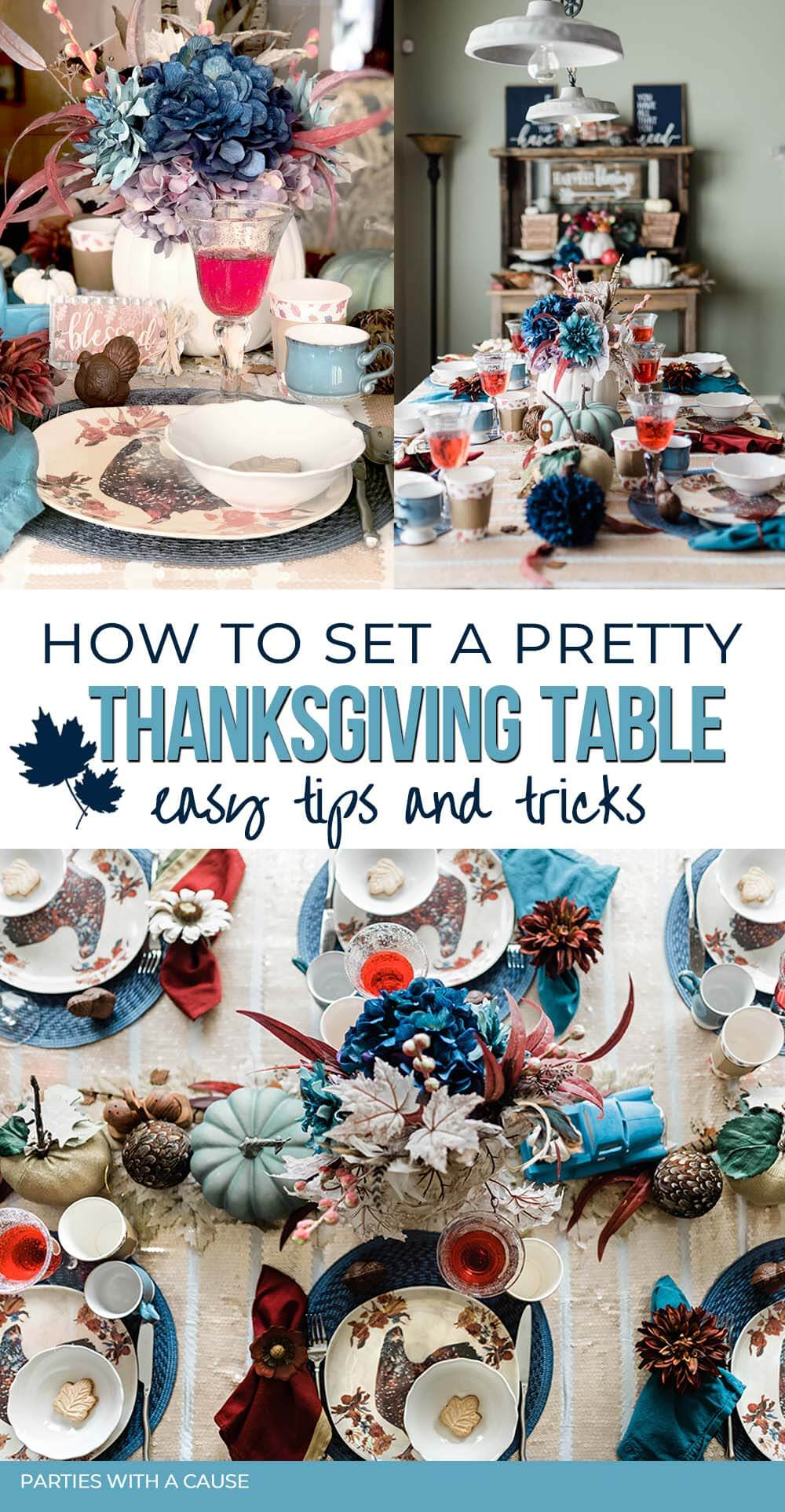 Ideas for Thanksgiving table by Salt Lake Party Stylist