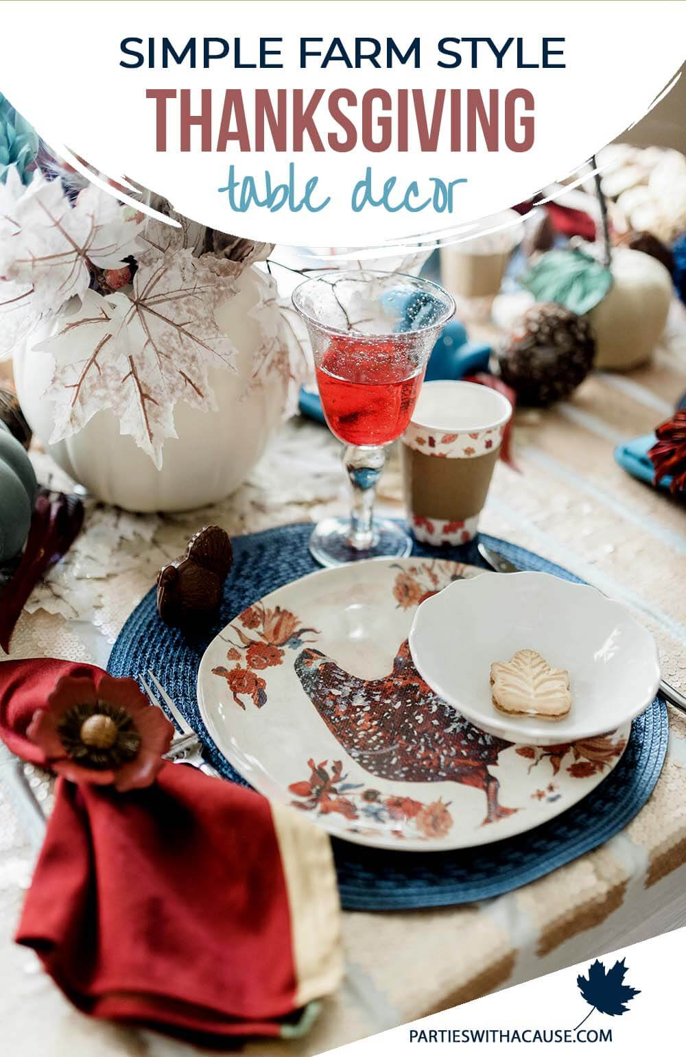 Simple farm style Thanksgiving table ideas by Salt Lake Party Stylist