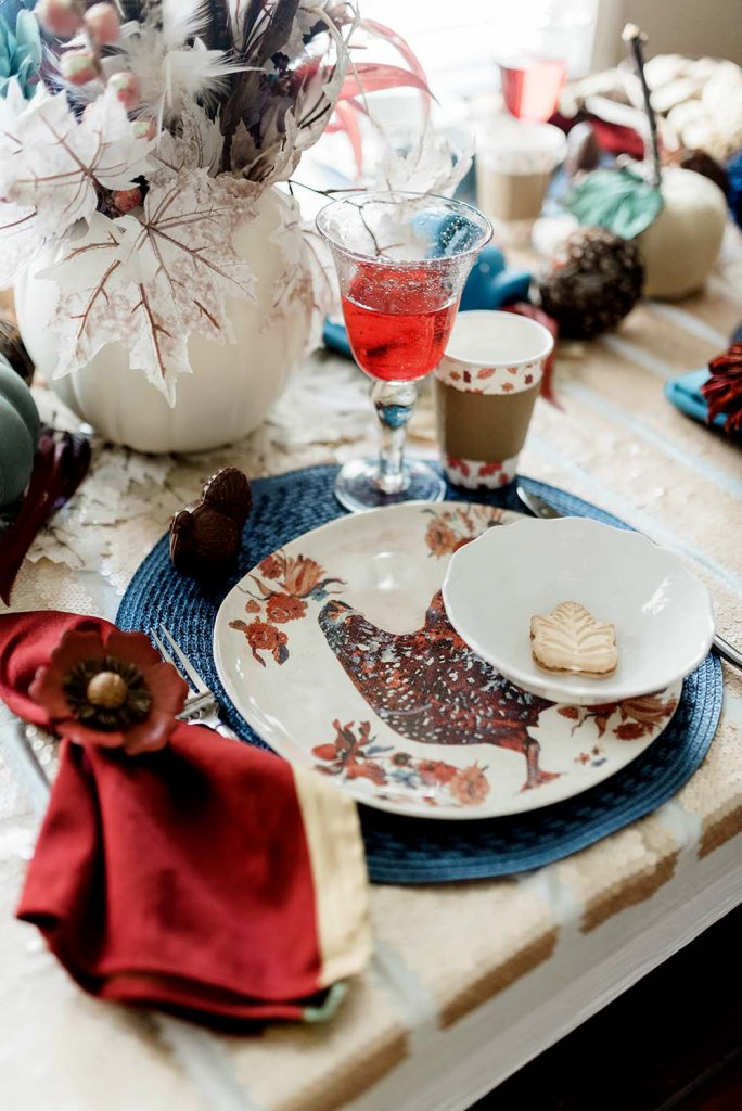 Thanksgiving farm style place setting