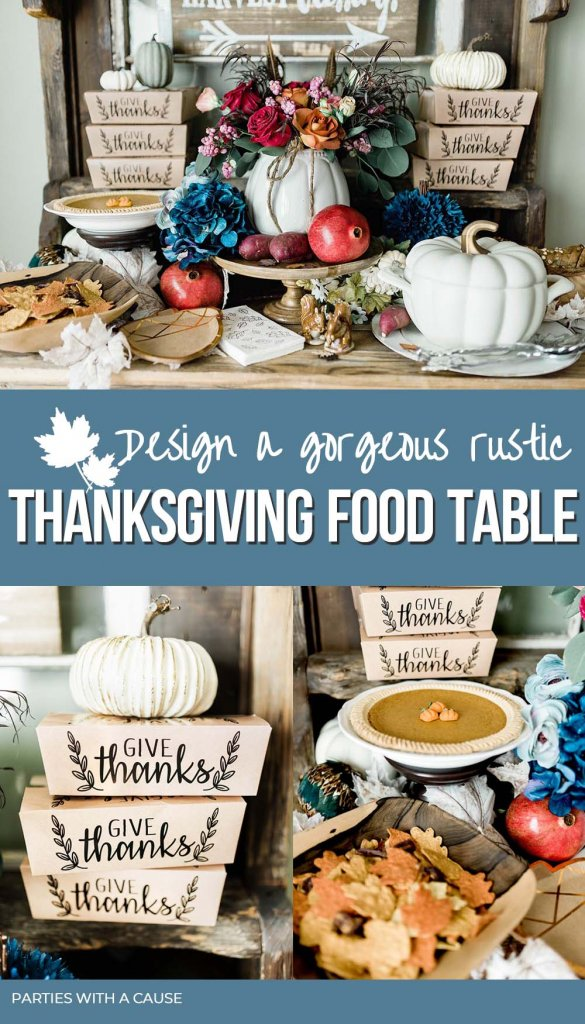 Rustic Thanksgiving food table by Salt Lake Party Stylist