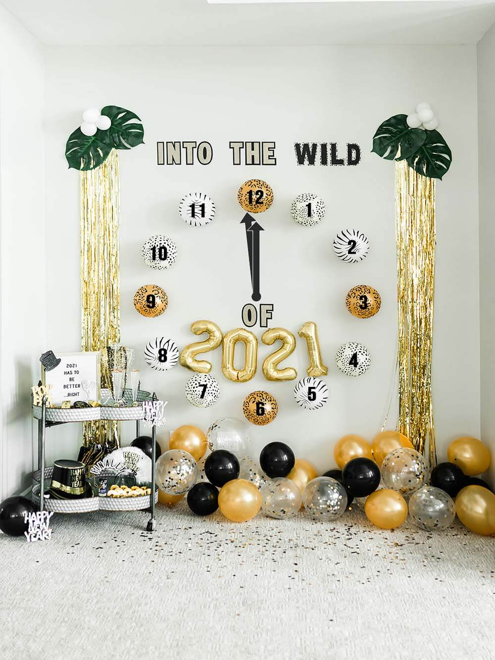 Into the WILD of 2021 New Years Backdrop