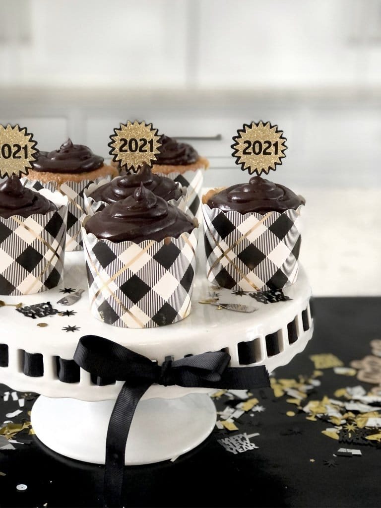Cheetah cupcakes for New Years party food