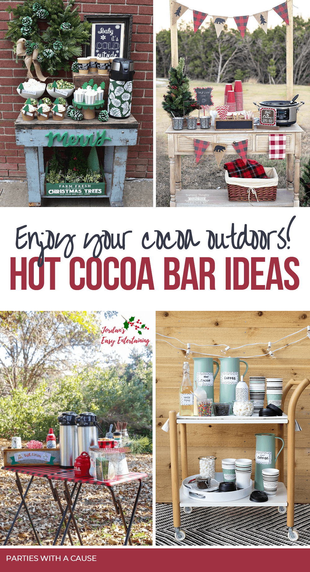 Outdoor Hot chocolate bar ideas by Salt Lake Party Stylist