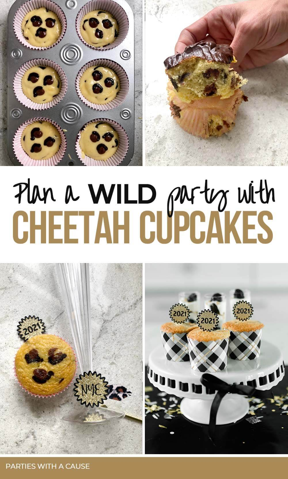 Plan a WILD safari party with cheetah cupcakes by Salt Lake Party Stylist