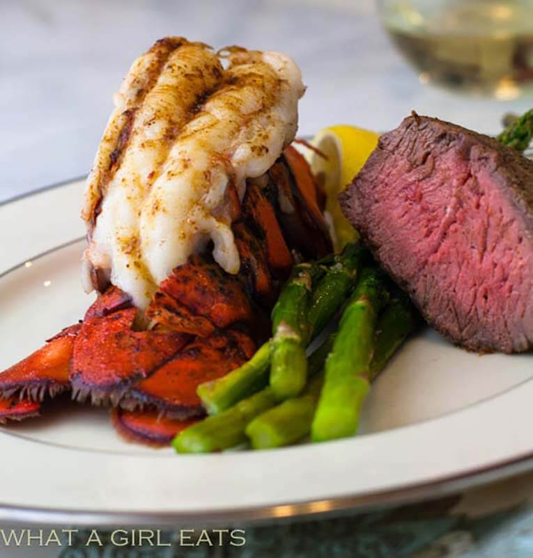 Lobster tail dinner for Valentine's Day special meal