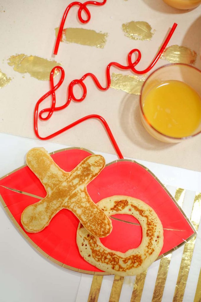 Valentine breakfast with X's and O's