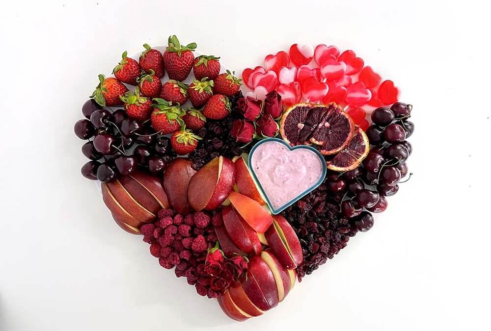 Red Food Fruit Heart for Valentine's Day