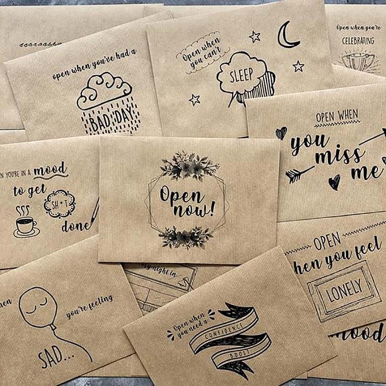 Open When....letters as a special Valentine's day gift from the heart
