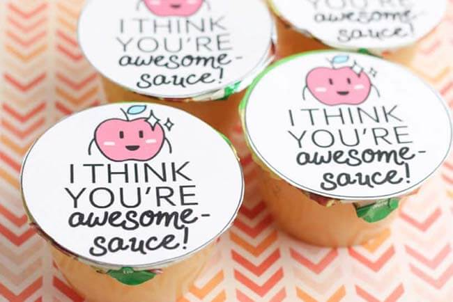 I think you're awesome sauce valentine printable