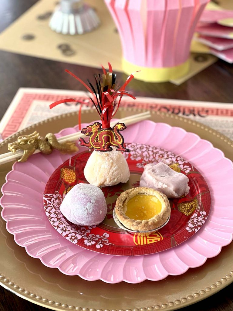 Chinese and Japanese desserts for Lunar New Year