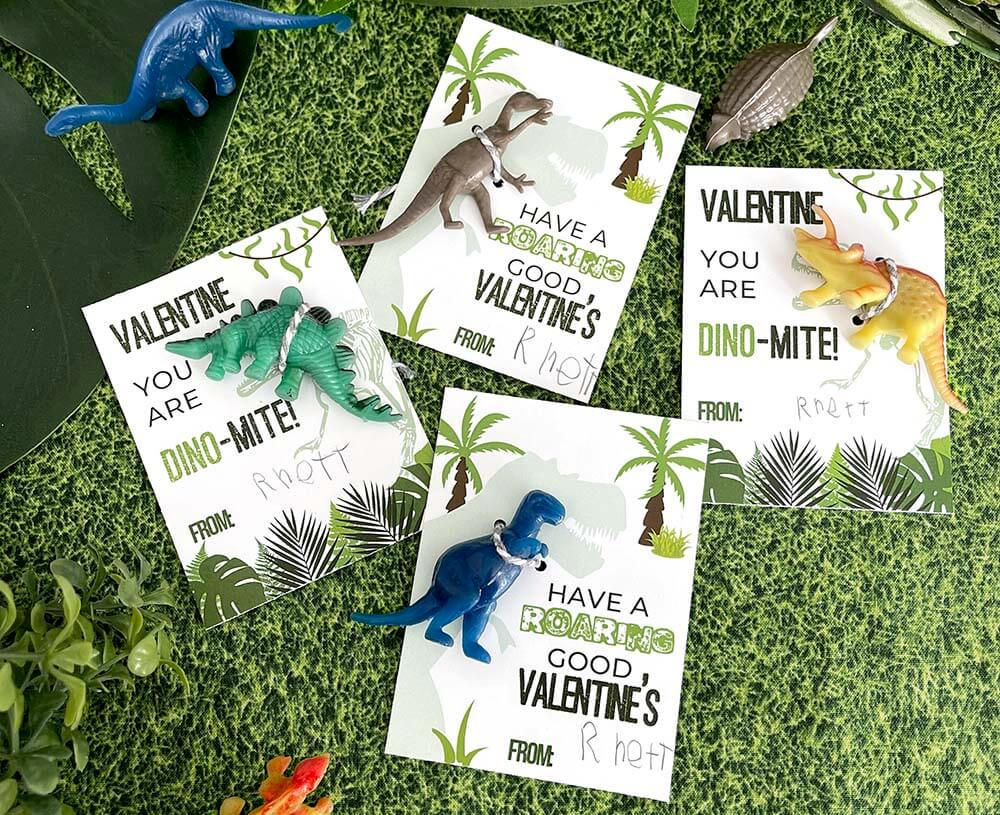 You're DINO-mite free printable valentines cards from Salt Lake Party Stylist