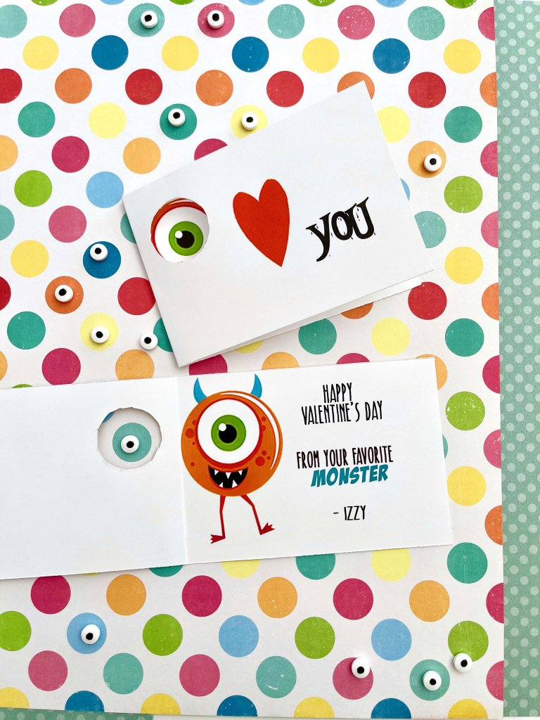 Little monster free printable Valentines cards by Salt Lake City Party stylist