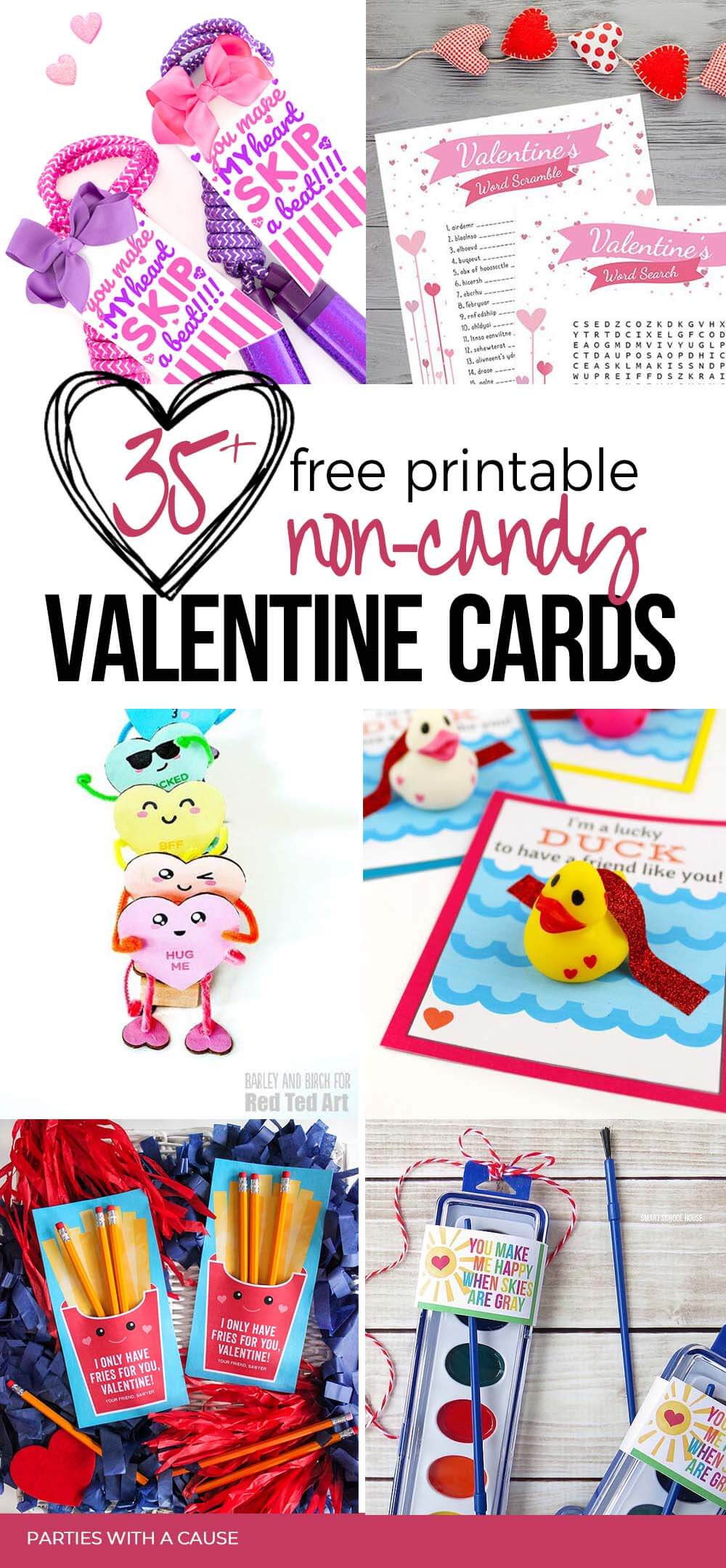 Free Printable Valentines cards non-candy ideas by Salt Lake Party Stylist