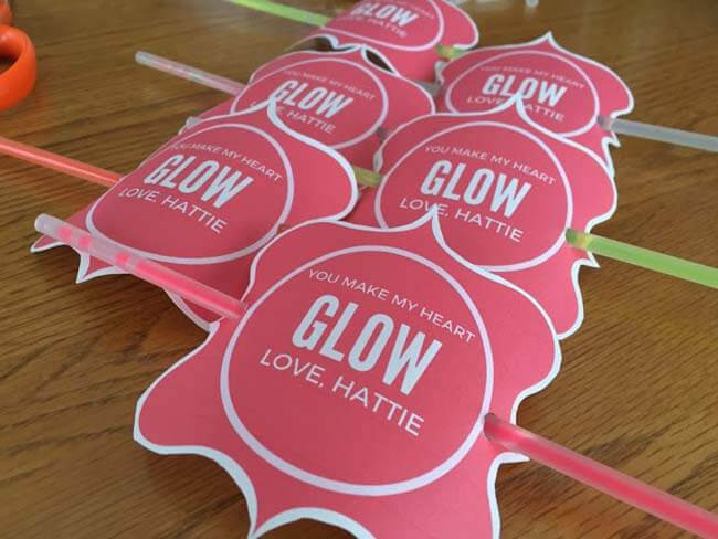 You make my heart glow valentine gift glow sticks