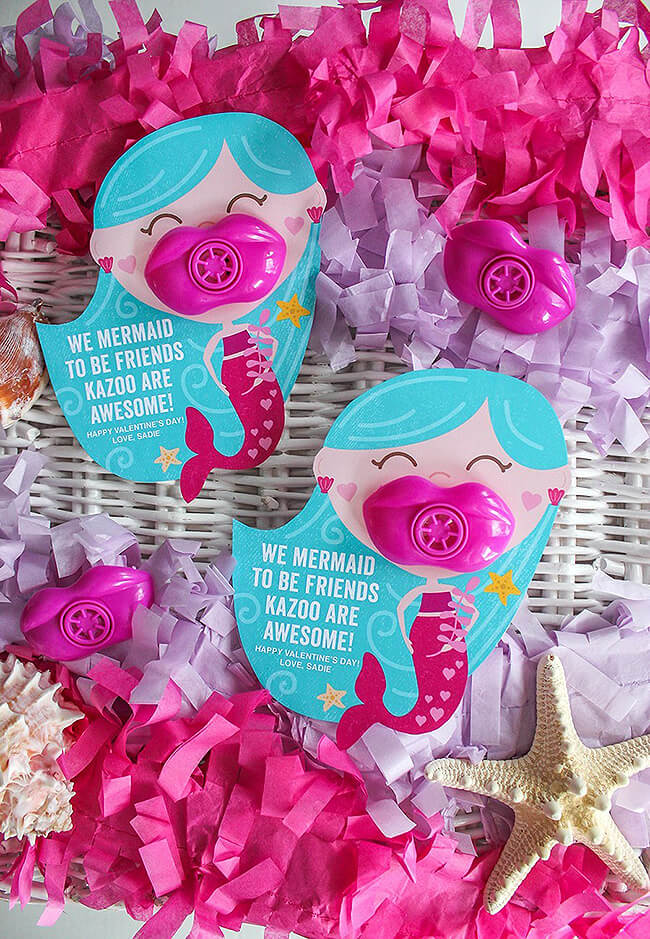 Mermaid kazoo free printable valentine gift card