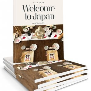 Family Adventure Guides for Japan in a stack