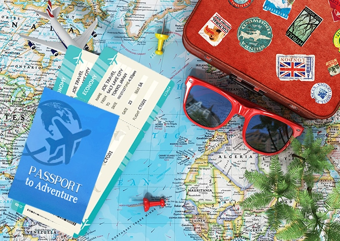 Printable passport and boarding passes for family adventures