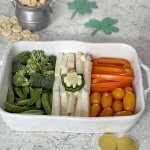 St Patrick's Day Food Irish Flag Veggie Tray