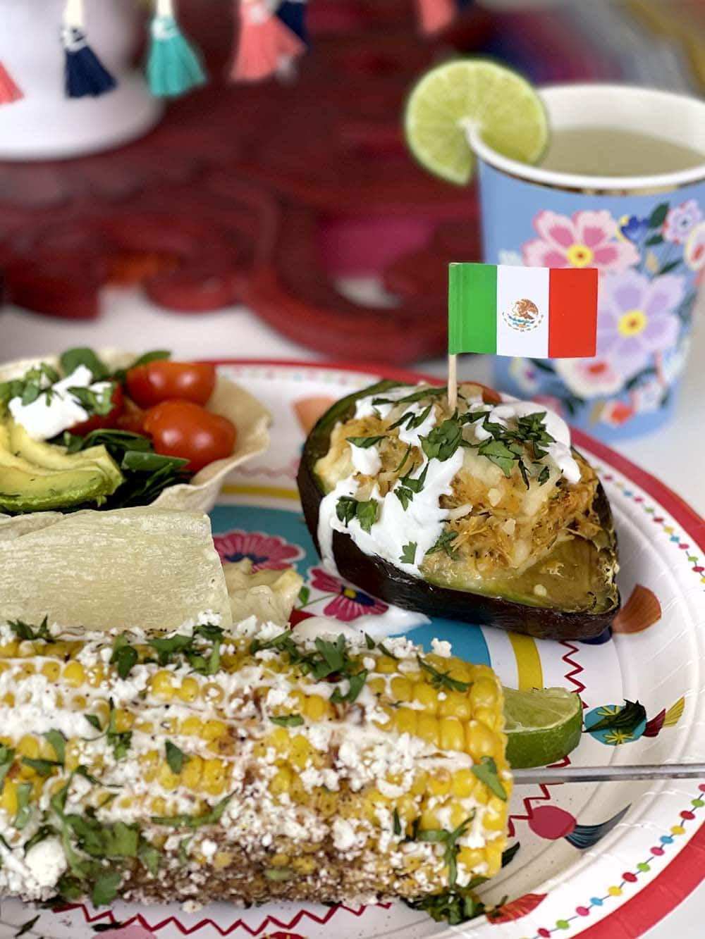 Stuffed avocados baked to perfection for a fiesta dinner