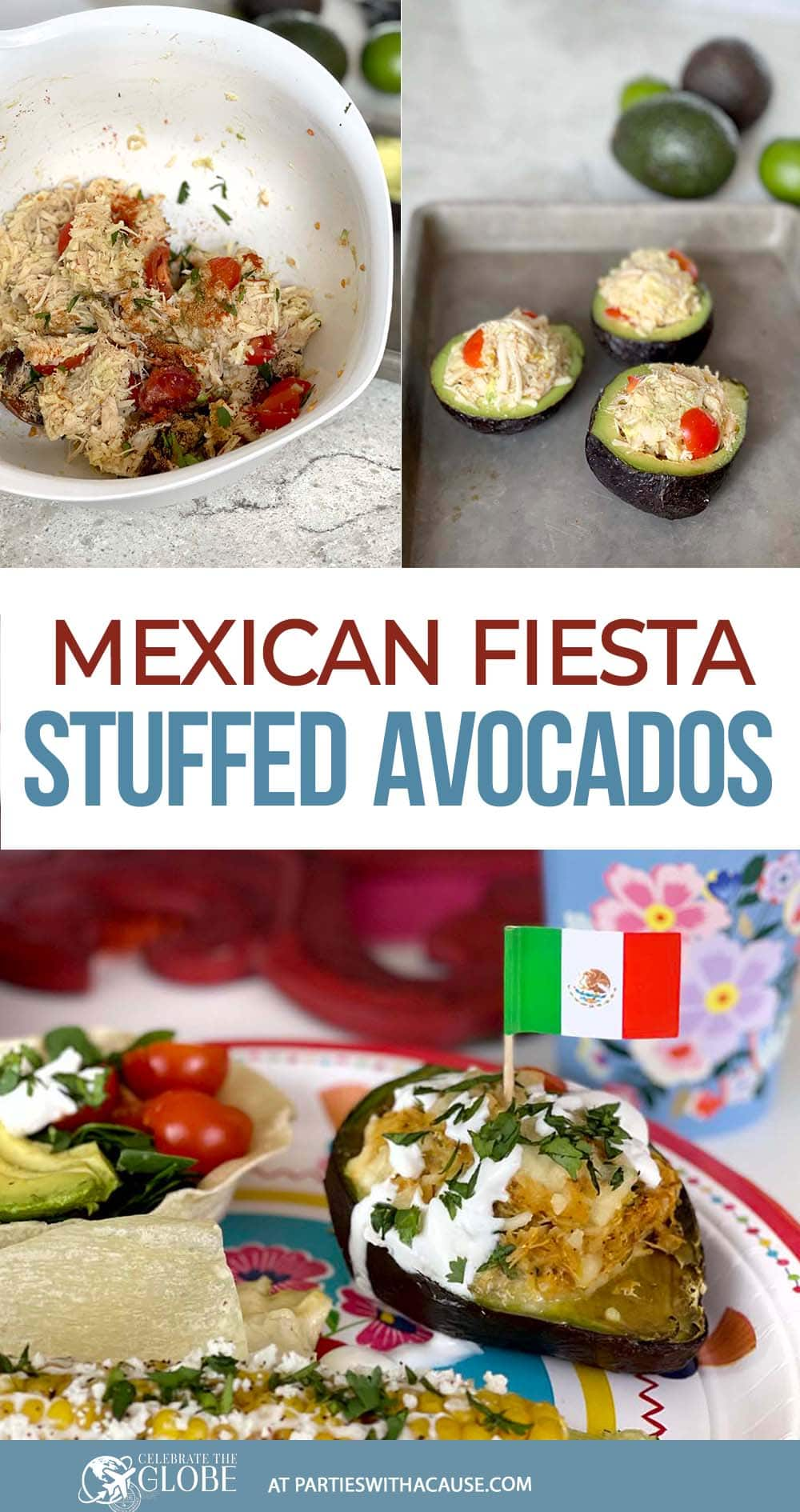 Mexican fiesta stuffed baked avocados by Salt Lake Party Stylist