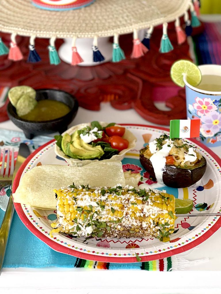 Grilled corn on the cob Mexican style