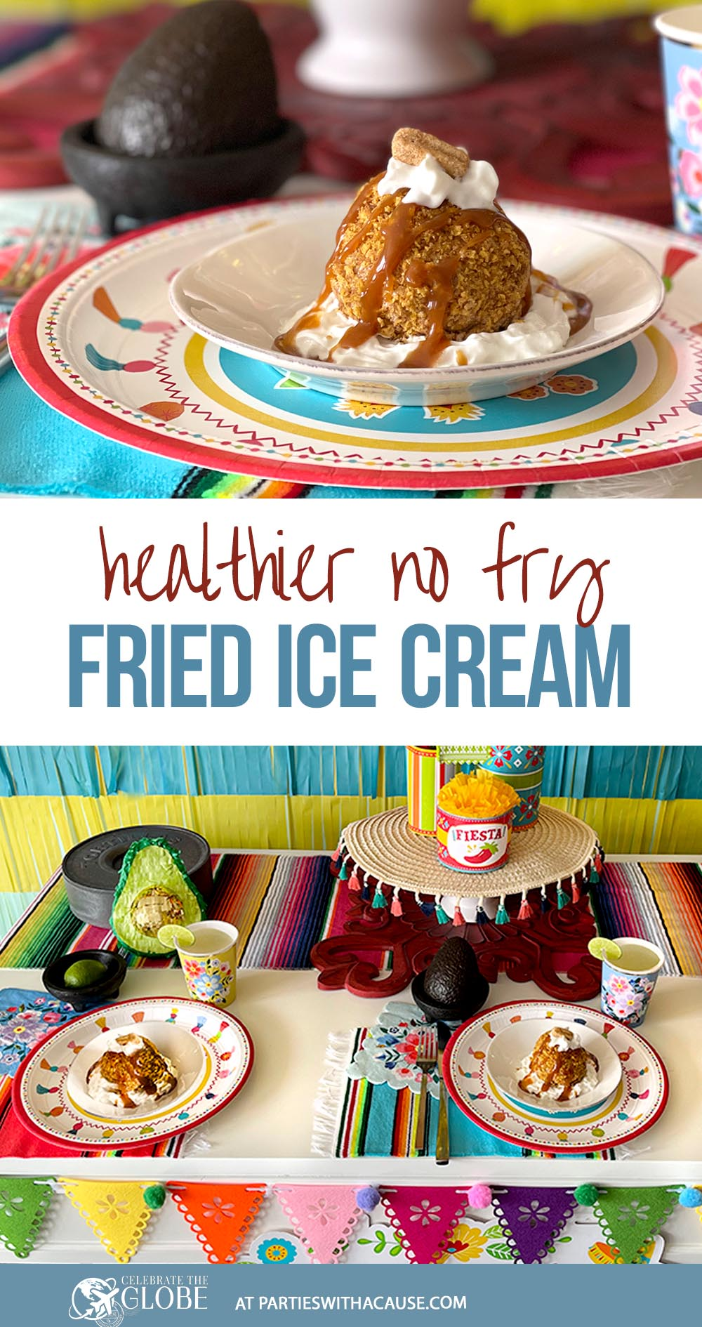 Recipe for fried ice cream without the oil!