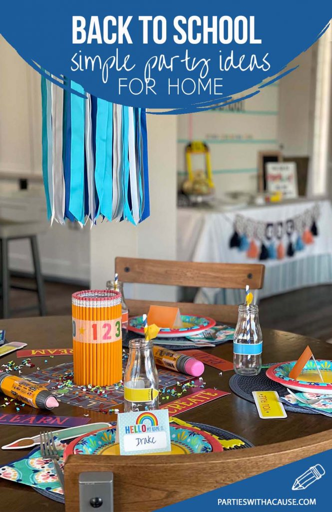 Back to school party ideas by Salt Lake Party stylist