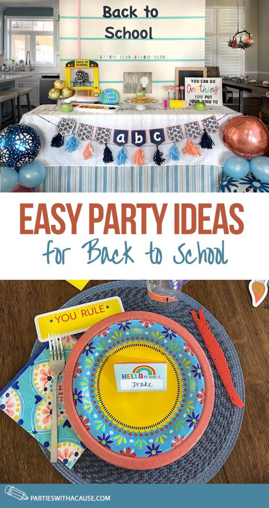 Easy party ideas for back to school by Salt Lake party stylist