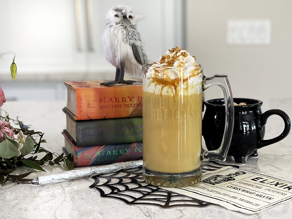 """Hot butterbeer as """"Felix Felices"""" potion"""
