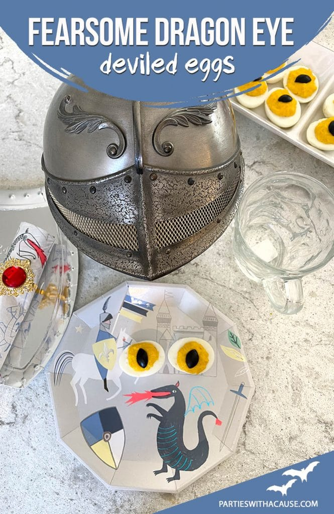 How to make dragon eye deviled eggs for knight party