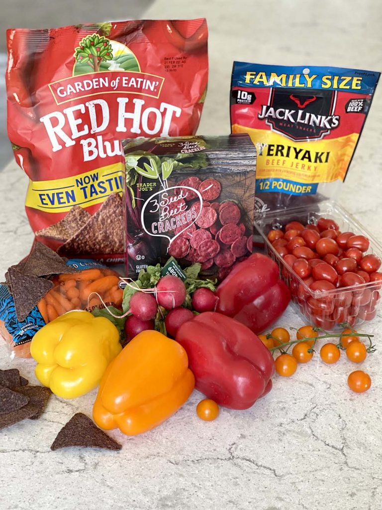 Red orange and yellow ingredients for edible dragon