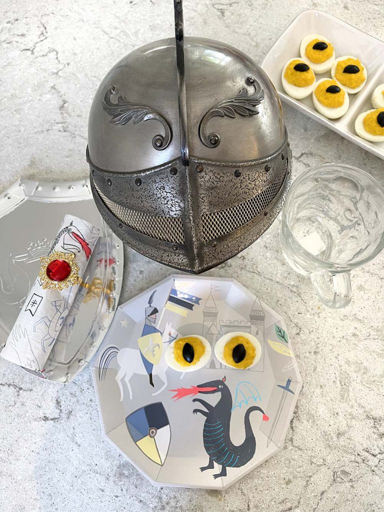 Knights and dragon eye deviled eggs