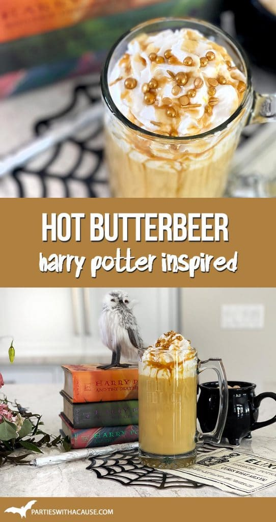 Hot butterbeer recipe by Salt Lake Party Stylist