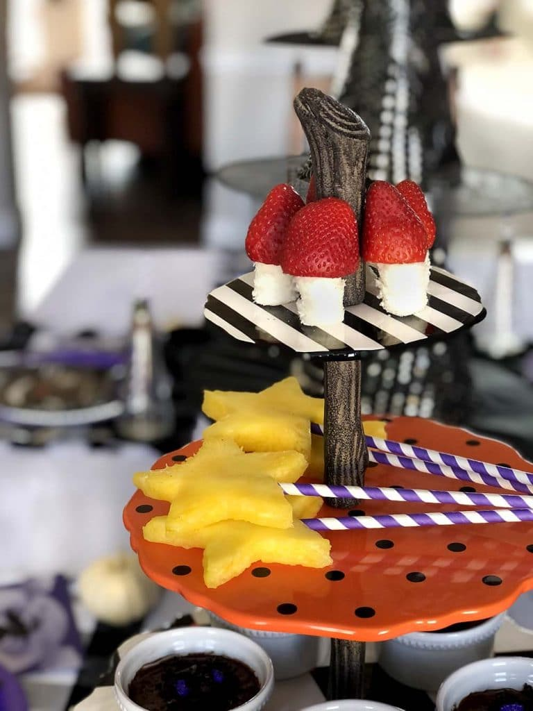 Halloween treat tower for dinner party
