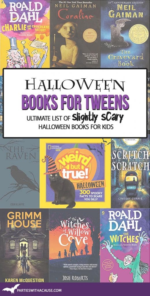 Halloween books for tweens by Salt Lake Party Stylist