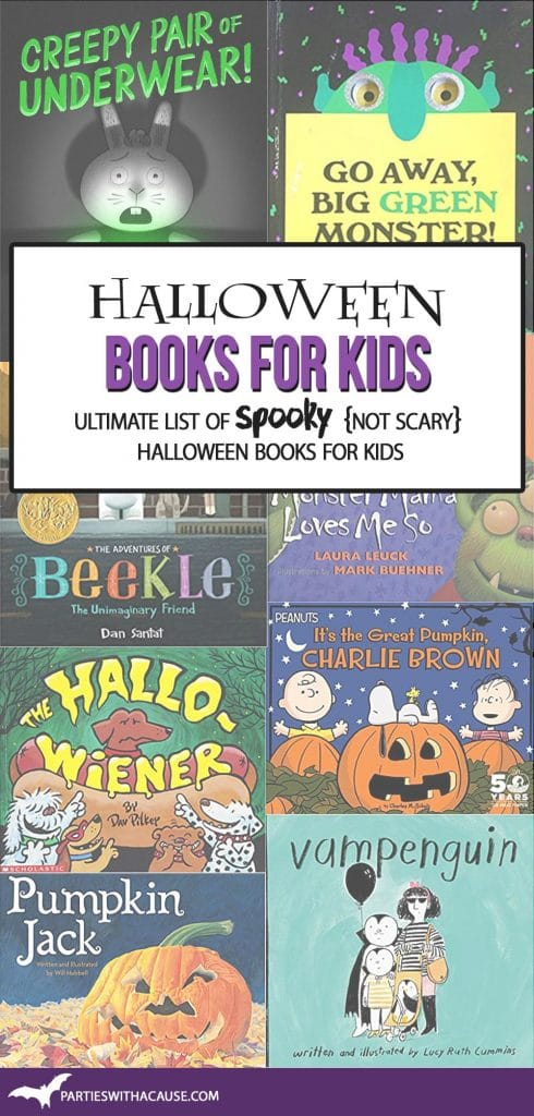 Halloween books for kids by Salt Lake Party Stylist